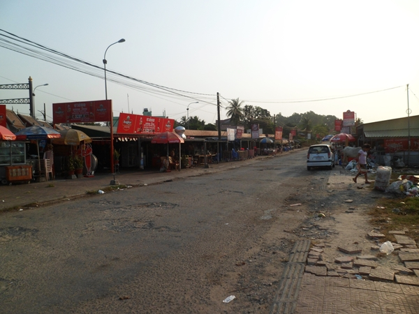 A small market near Gold Lion Circle.
