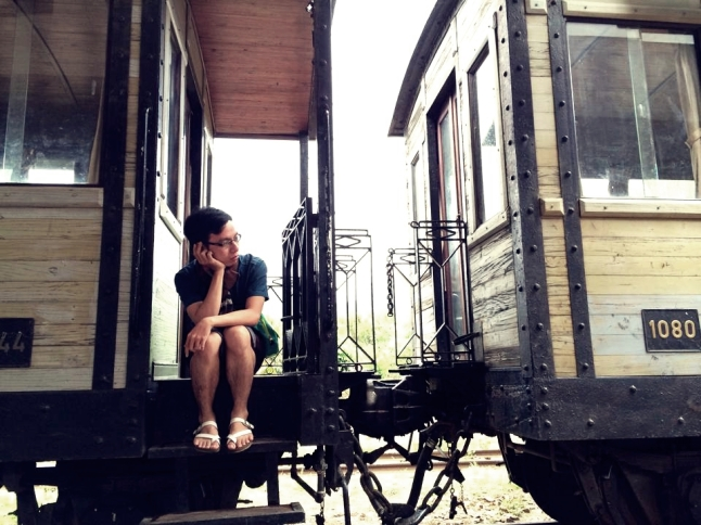 At Dalat Old Railway Station - the oldest train station in Indochina.